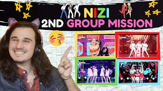Reaction to NIZI PROJECT (虹プロ) 2nd Group Mission - Sun Rise, Seaside Fairies, Mr. お姉さん, Heart Maker