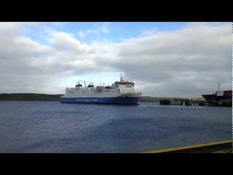 Shetland Ferry Leaving Lerwick On Route To Aberdeen
