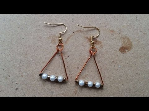How To Make Beaded Triangle Earrings - DIY Crafts Tutorial - Guidecentral