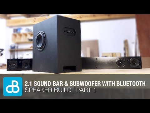 2.1 Sound Bar & Subwoofer Speaker Build with Bluetooth | PART 1 - by SoundBlab