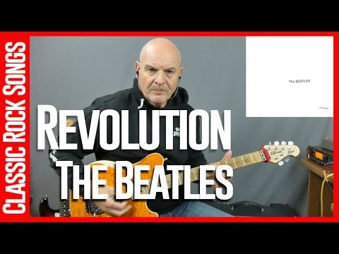 Revolution By The Beatles - Guitar Lesson Tutorial