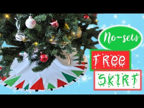 DIY no-sew Felt Tree Skirt | Christmas DIY Decorations | Advent Calendar Day #12