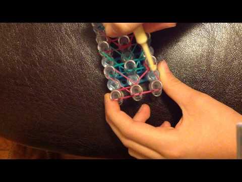 How to make a double-square rainbow loom bracelet