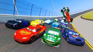 Race Cars 3 Daytona McQueen Jackson Storm Max Schnell Nigel Gearsley Francesco and Friends & Songs