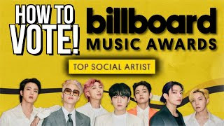 How To Vote For BTS Top Social Artist BBMA [2021 Billboard Music Awards]