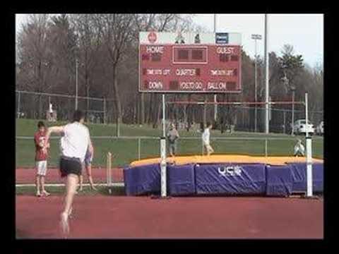 5 step high jump 2.21m