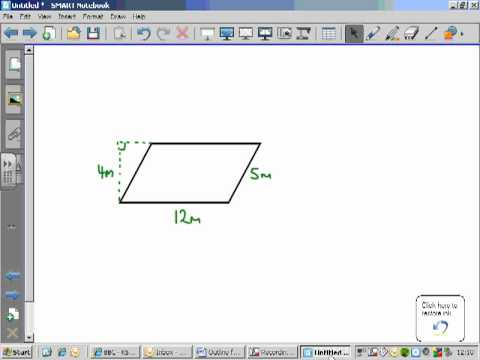 Area of parallelogram and rhombus
