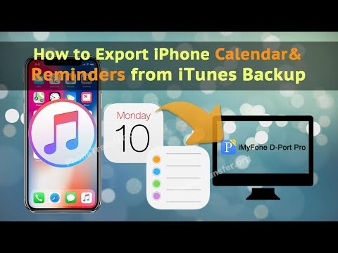 How to Export iPhone Calendar&Reminder from iTunes Backup