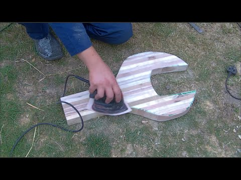 Massive spanner guitar?.. DIY - 2nd Annual Pallet Up Cycle Challenge 2015 entry