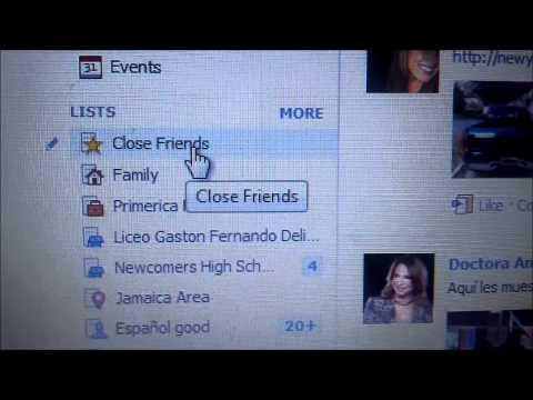 Facebook: News Feed, Close friends list