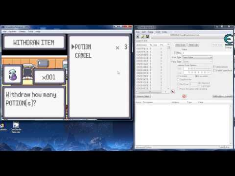 Hacking Master Ball in Pokemon Emerald with Cheat Engine 6.3