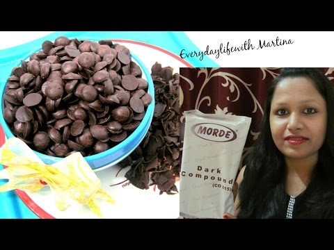 How to make Homemade Chocolate Chips and Chocolate Shavings using Morde's Dark Chocolate Compound