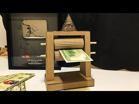 How to make a Money printing machine from Cardboard\Amazing DIY