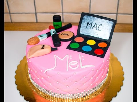 HOW TO MAKE A MAC MAKE UP CAKE