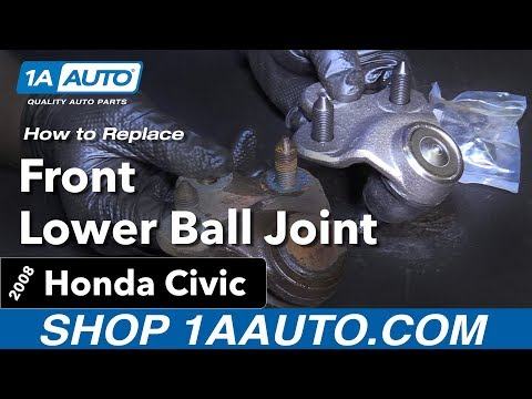 How to Replace Install Front Lower Ball Joint 06-11 Honda Civic