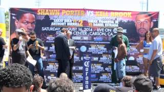 Olympic Gold Medalist Luke Campbell Weighs In Stub Hub Centre Carson