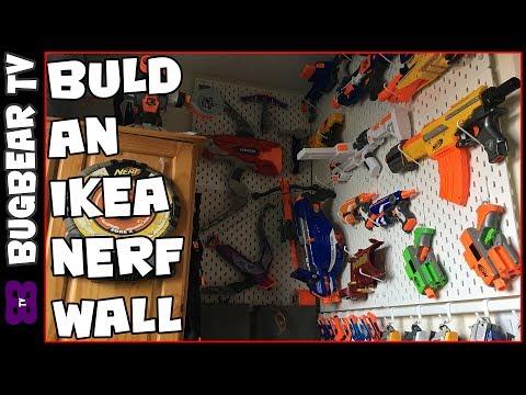 How to build an IKEA Nerf Wall - UK Pegboard - IKEA Skadis -  BugBear TV