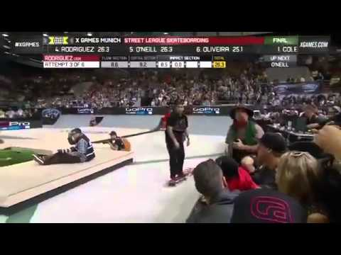Paul Rodriguez wins silver in Street League Skateboarding at X Games Munich 2013   YouTube