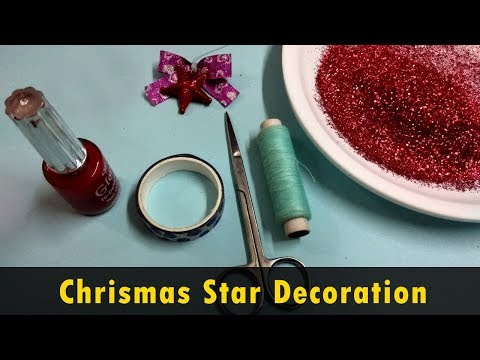 DIY #2 Decorating Christmas star | how to make stars with sparkle easy – 2017