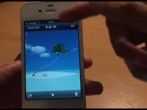 How to Change Wallpaper / Picture / Image Background, iOS5 iPhone