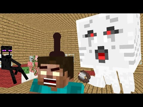 Monster School : Hair Cut - Minecraft Animation