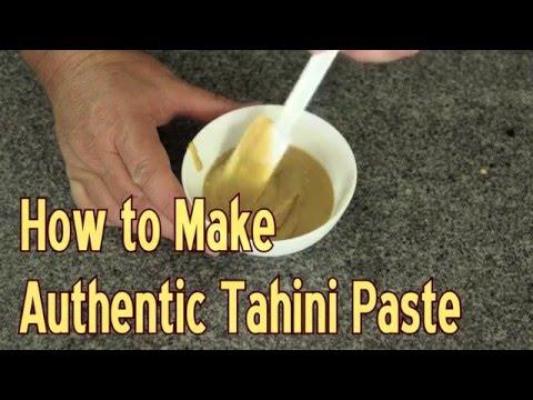 How to Make Authentic Tahini Paste - Homemade Tahini, Quick & Easy!!!