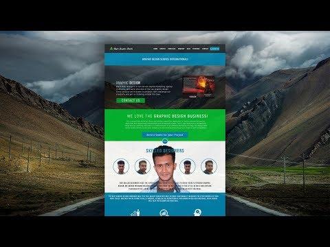 How to Design a Portfolio Website - Photoshop Tutorial