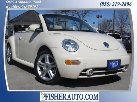 2004 Volkswagen Beetle GLS Turbo beige   $9,900*   Boulder, Colorado   Fisher Auto (Stock #135526B)