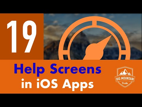 Help Screens in iOS Apps - Part 19 - Itinerary App (iOS, Xcode 10, Swift 4)