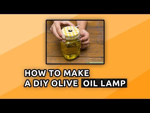 DIY Olive Oil Lamp