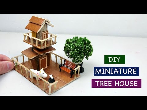 DIY Miniature Tree House for Fairy Garden #3 - Creative Craft ideas