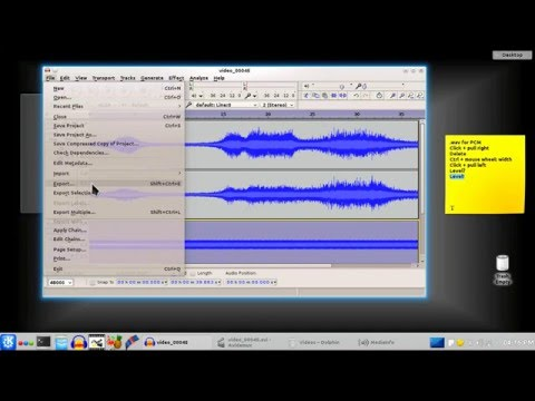 Add background audio to a video in Avidemux and Audacity.