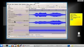 Download Add background audio to a video in Avidemux and Audacity.