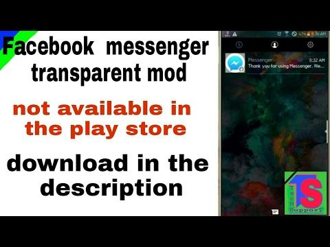 Facebook messenger transparent mod apk link in the description