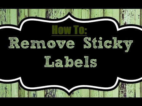 Life Hack: Remove Sticky Labels Cleanly
