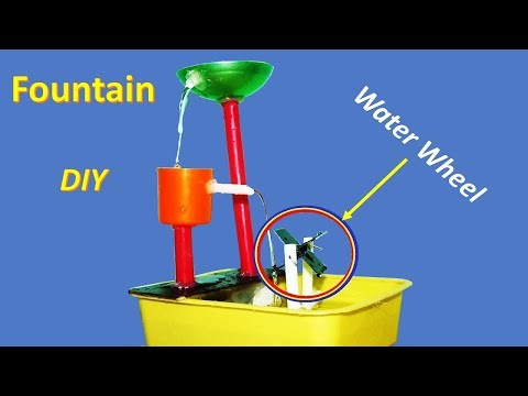 How to make a small tabletop water fountain - DIY Fountain
