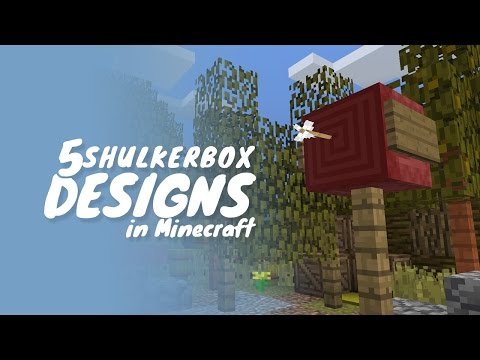 5 Creative Designs for Shulker Boxes in Minecraft 1.11