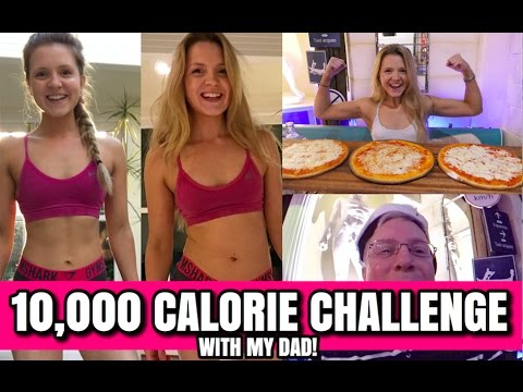 10,000 Calorie Challenge | GIRL + DAD vs FOOD | Epic Cheat Day | Gluten Free