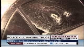 Police shoot dead three suspected robbers in Nakuru,Kenya
