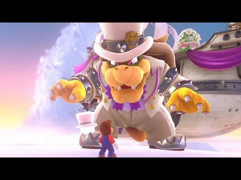 Super Mario Odyssey - Walkthrough Part 6 - Cloud Kingdom All Moons & Coins