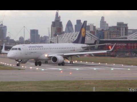 London City Airport traffic Embraer Lufthansa British Airways Swiss International