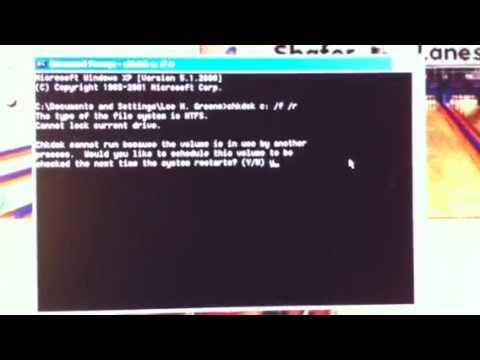 How to run Chkdsk on Windows XP
