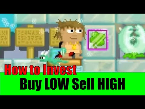 GrowTopia #4 - How to buy LOW sell HIGH & Invest