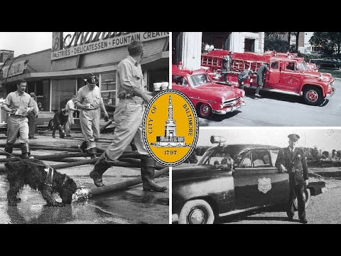 Vintage Baltimore MD, 911 Emergencies, 1949-1958