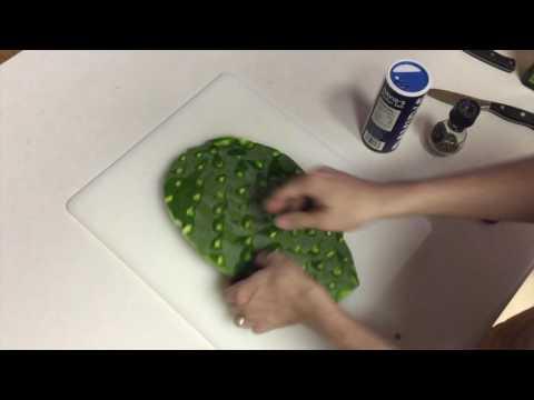 Prickly Pear Cactus Pad (Nopales) Cooking