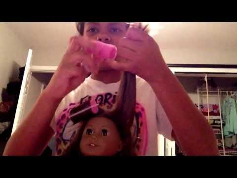 How to curl an American girl dolls hair! You will need foam curlers to do this way! Good luck!