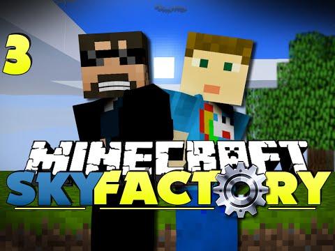 Minecraft Modded SkyFactory 3 - AUTOMATED COBBLESTONE
