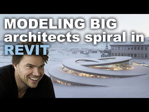 Modeling BIG architects Spiral in Revit