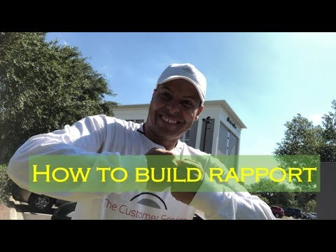 How to build rapport... with your customer