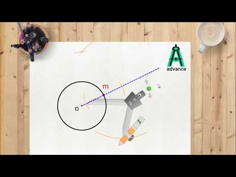 Draw tangent at any point on the circle